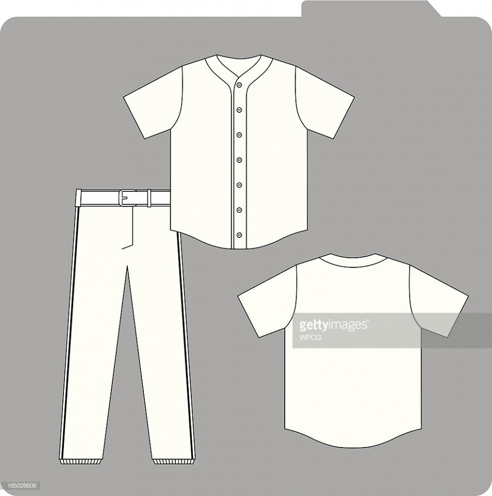 985x993 Free Download Baseball Uniform Template Vector Art Top Template
