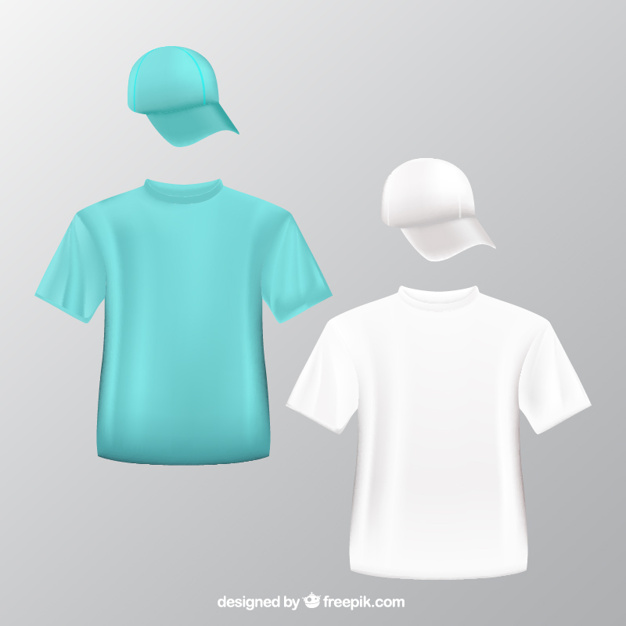 626x626 T Shirts And Baseball Caps Vector Free Download