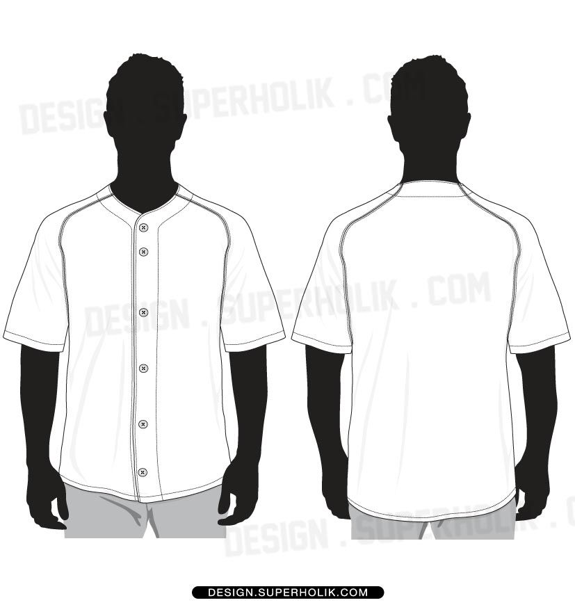 827x870 Baseball Jersey Shirt Vector Template Menswear