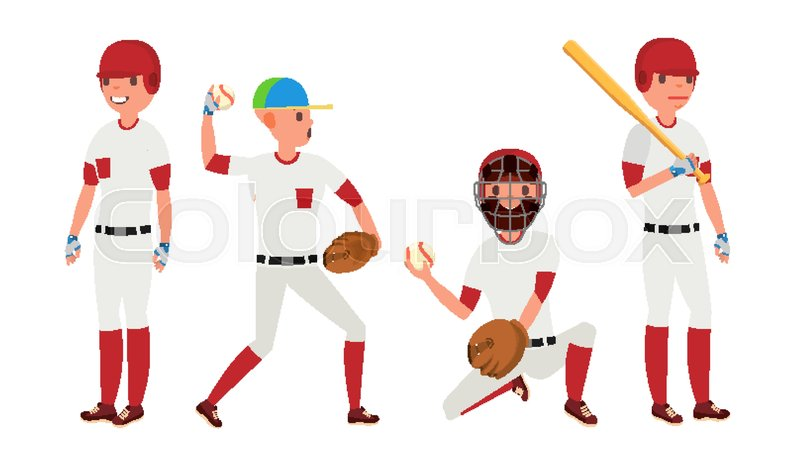 800x450 Sport Baseball Player Vector. Classic Uniform. Player Pitching On