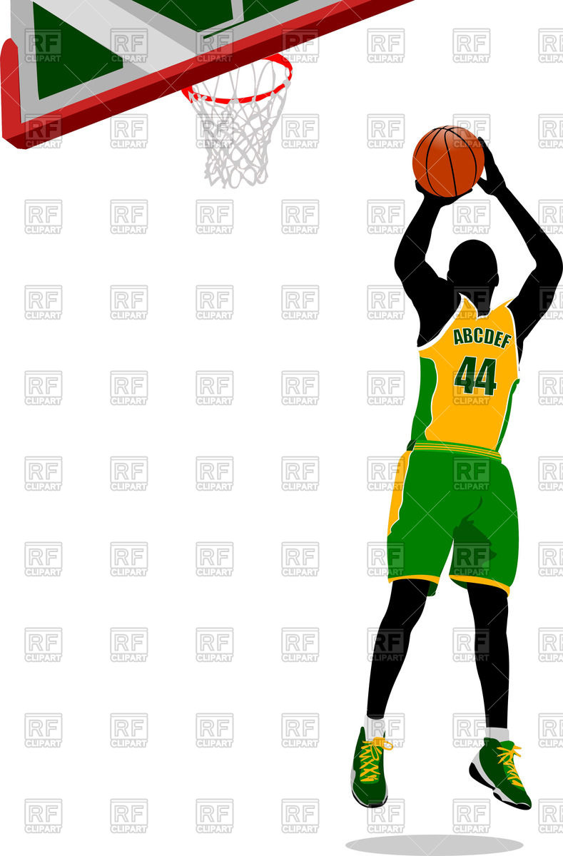 789x1200 Basketball Player Jumping To A Basket Vector Image Vector