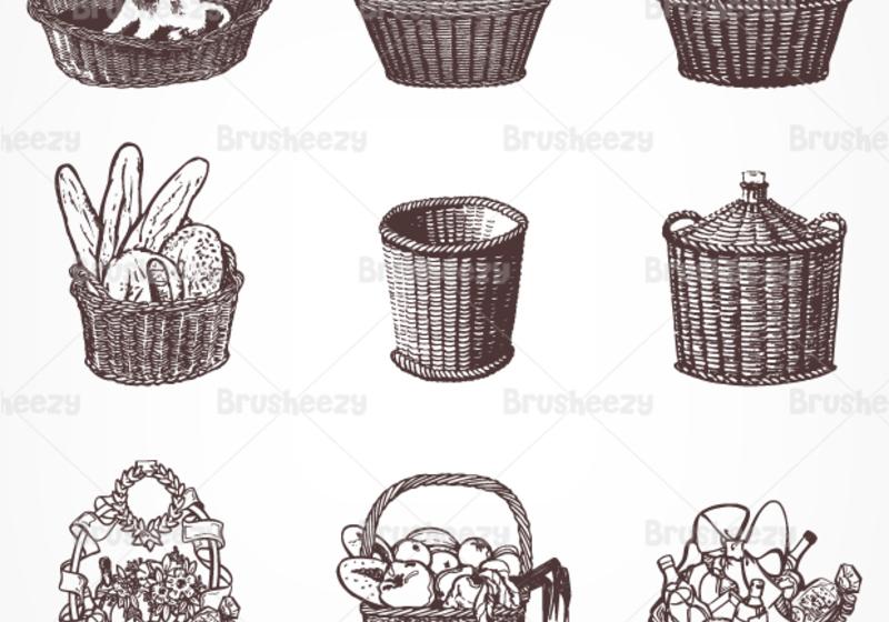 800x560 Drawn Basket Vector 3254850