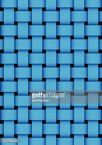 348x492 Blue Basket Weave Texture Vector Illustration Premium Clipart