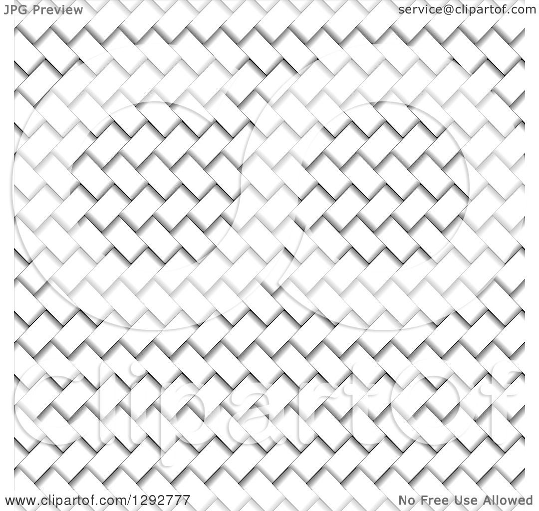 1080x1024 Clipart Of A White And Gray Basket Weave Texture Background