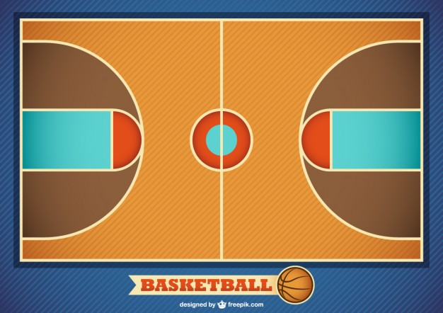 626x442 Basketball Court Vector Free Download