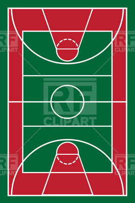 267x400 Basketball Court Vector Image Vector Artwork Of Sport And