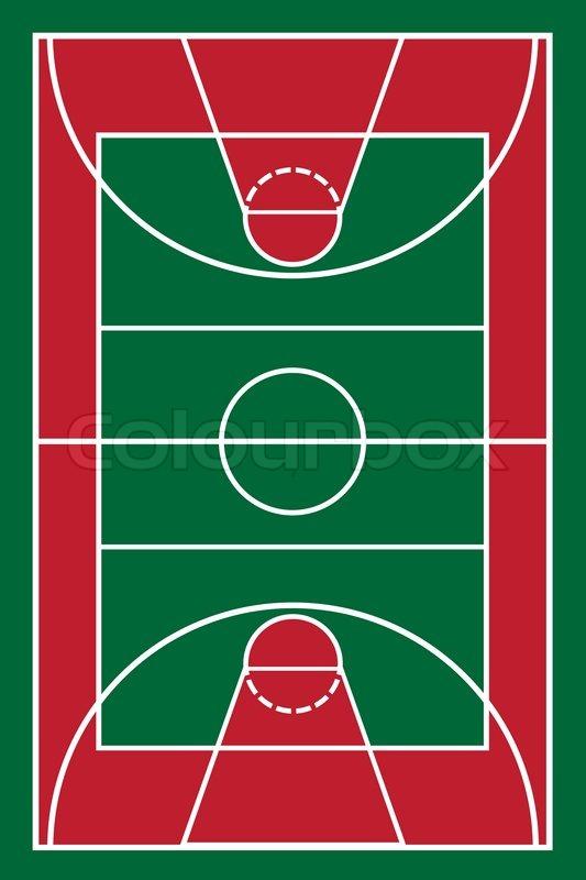 533x800 Basketball Court Vector Illustration Stock Vector Colourbox