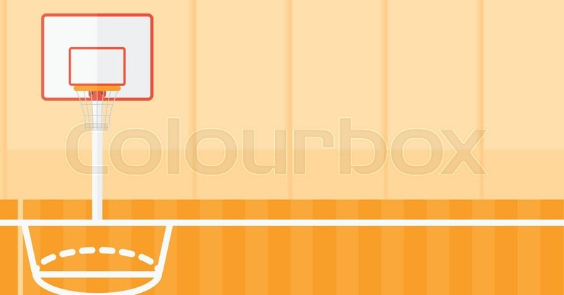 800x419 Background Of Basketball Court Vector Flat Design Illustration