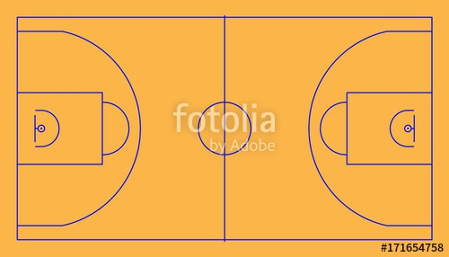 500x286 Basketball Court Vector Illustration With Lines Stock Image And