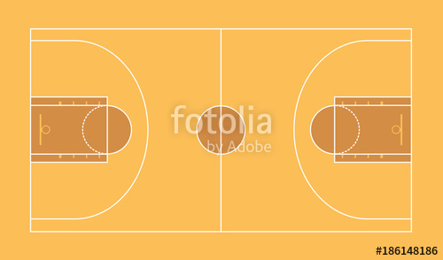 500x294 Basketball Field. Vector Illustration Stock Image And Royalty
