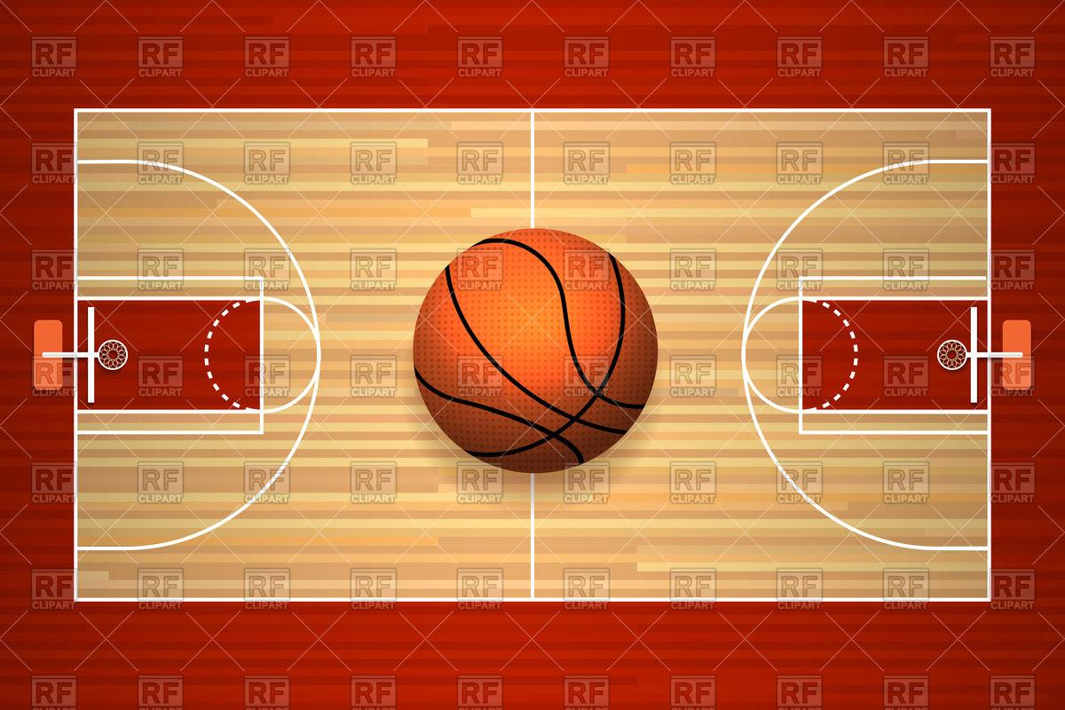1200x800 Basketball Hardwood Court Floor Top View Vector Image Vector