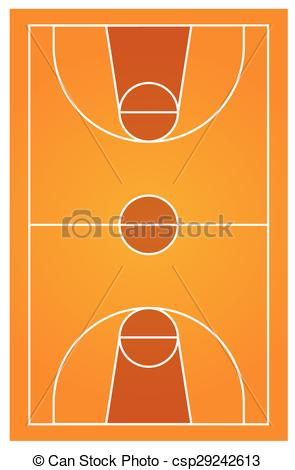 295x470 Diagram Of Basketball Court With No People Vector Clip Art