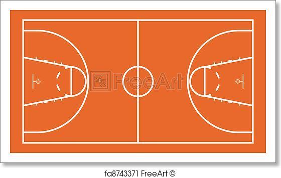 560x355 Free Art Print Of Basketball Court. Vector Illustration Of