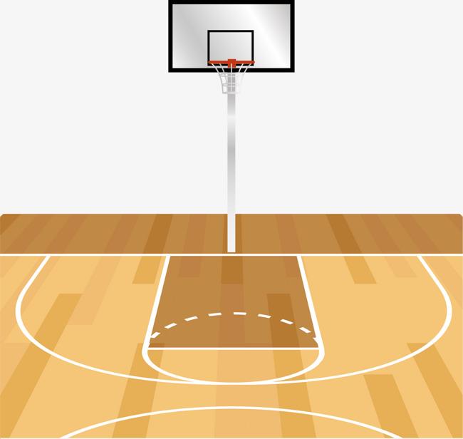 650x616 Vector Hand Painted Basketball Court, Basketball Vector