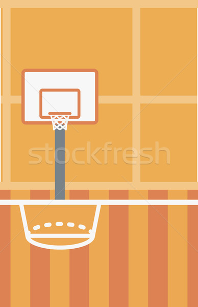 388x600 Background Of Basketball Court. Vector Illustration Andrei
