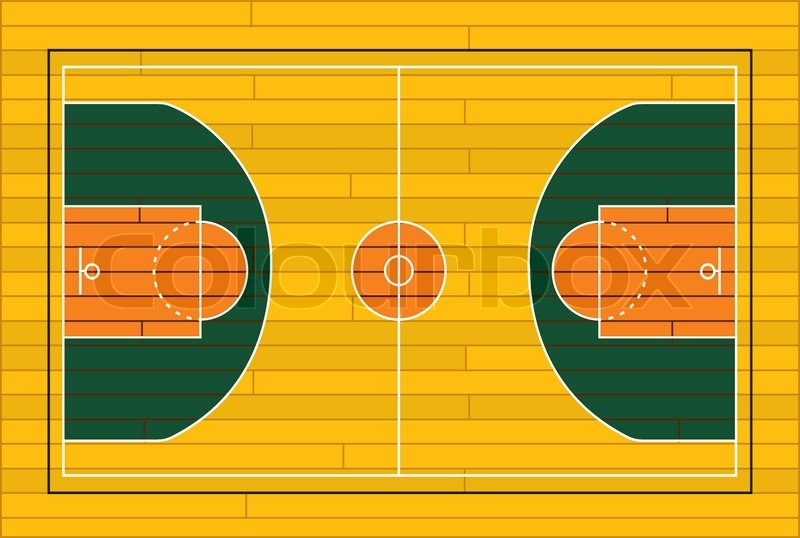 800x538 Wooden Basketball Court Stock Vector Colourbox