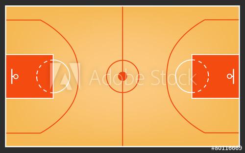 500x313 Basketball Court Or Basketball Field Vector