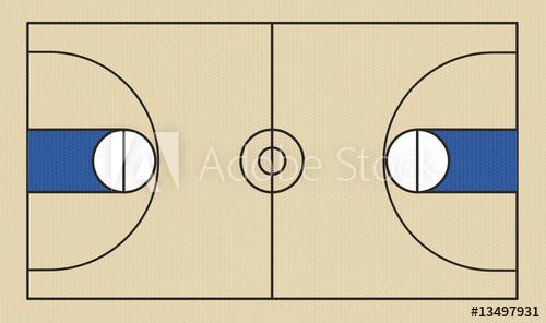 500x296 Basketball Court Vector