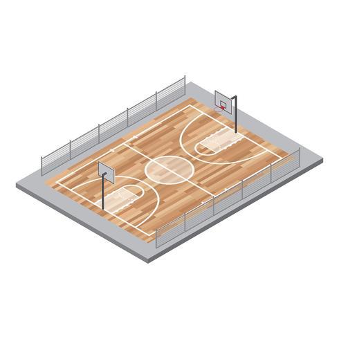 490x490 Basketball Court Vector