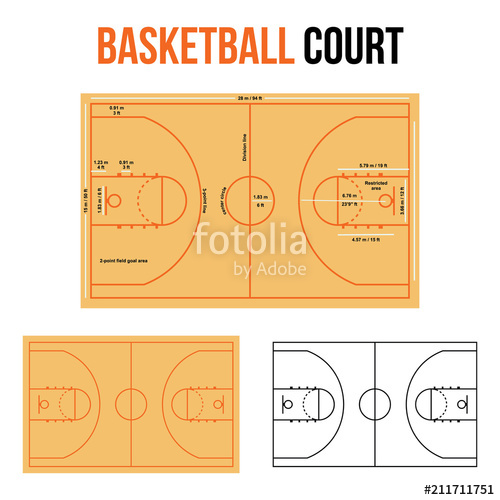 500x500 Basketball Court Vector Illustration Stock Image And Royalty Free