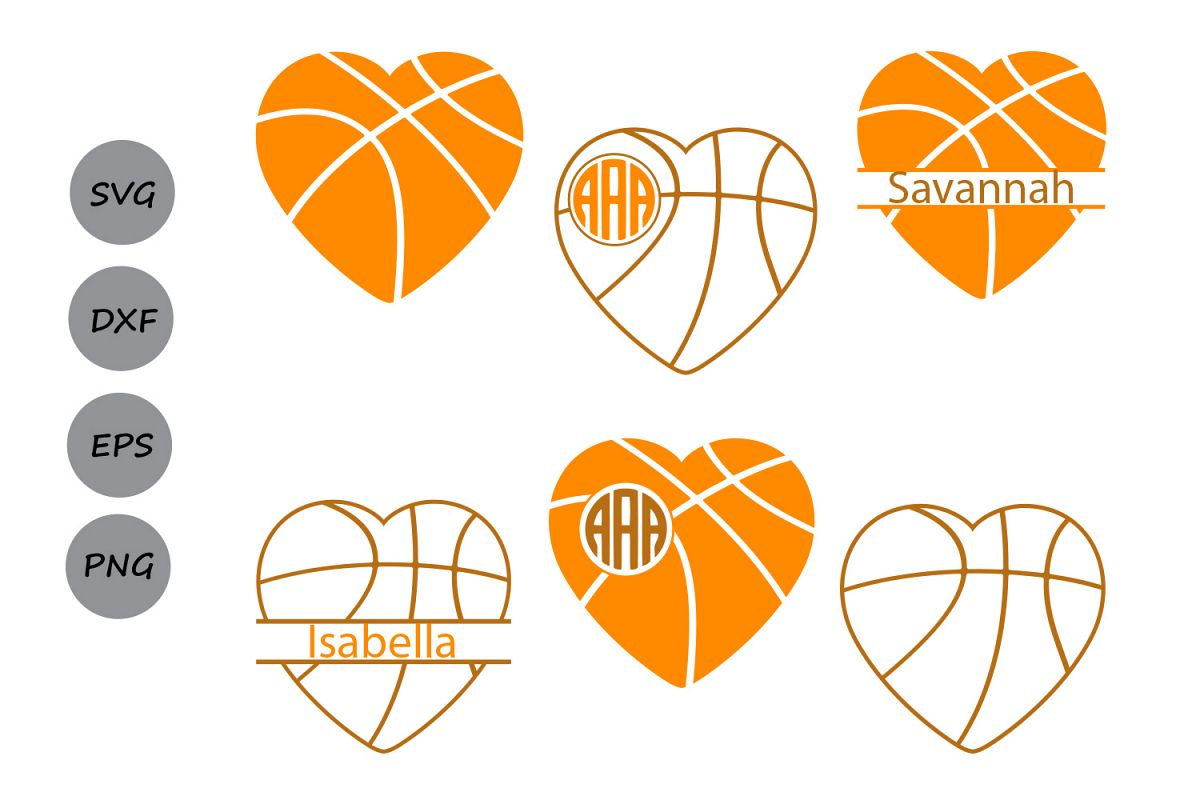 1200x800 Basketball Svg, Basketball Heart Svg, Basketball Heart Monogram