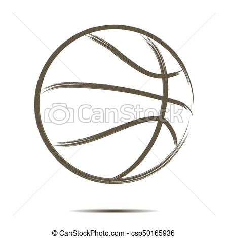 450x470 Basketball Ball Icon. Basketball Icon. Isolate On White Background