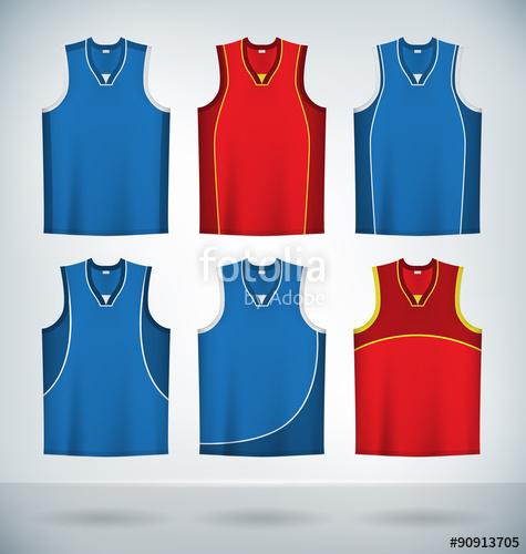 475x500 Basketball Jerseys Temlplates Set Mock Up Stock Image And Royalty