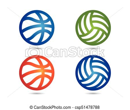 450x380 Basketball Logo Icon. Basketball Logo Vector Icon.