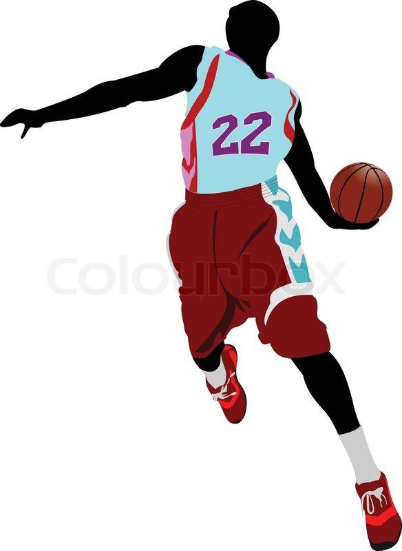 584x800 Basketball Player. Vector Illustration Stock Vector Colourbox