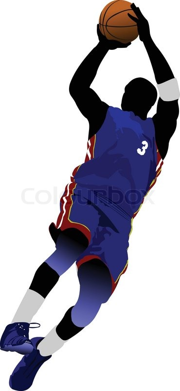 370x800 Basketball Players. Vector Illustration Stock Vector Colourbox