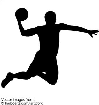 335x355 Download Basketball Player Silhouette
