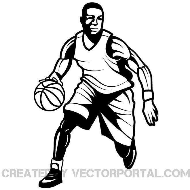 660x660 Free Basketball Player Vector Graphics.eps Psd Files, Vectors