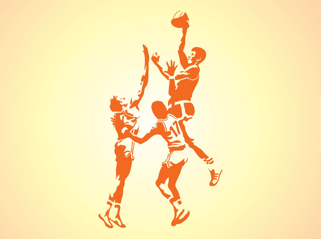 1024x765 Silhouettes Of Basketball Players Vector Art Amp Graphics
