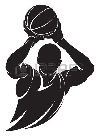 317x450 Vector Football (Soccer) Player Running Silhouette With Ball
