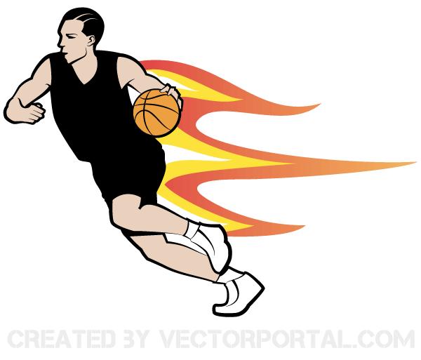 600x513 Basketball Player Vector Art 123freevectors
