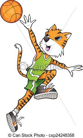 285x470 Tiger Basketball Player Vector Art. Tiger Basketball Player Vector