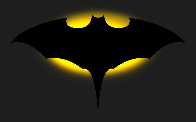 748x468 Batman, Bat Signal, Digital Art, Vector Art, Minimalism, Batman