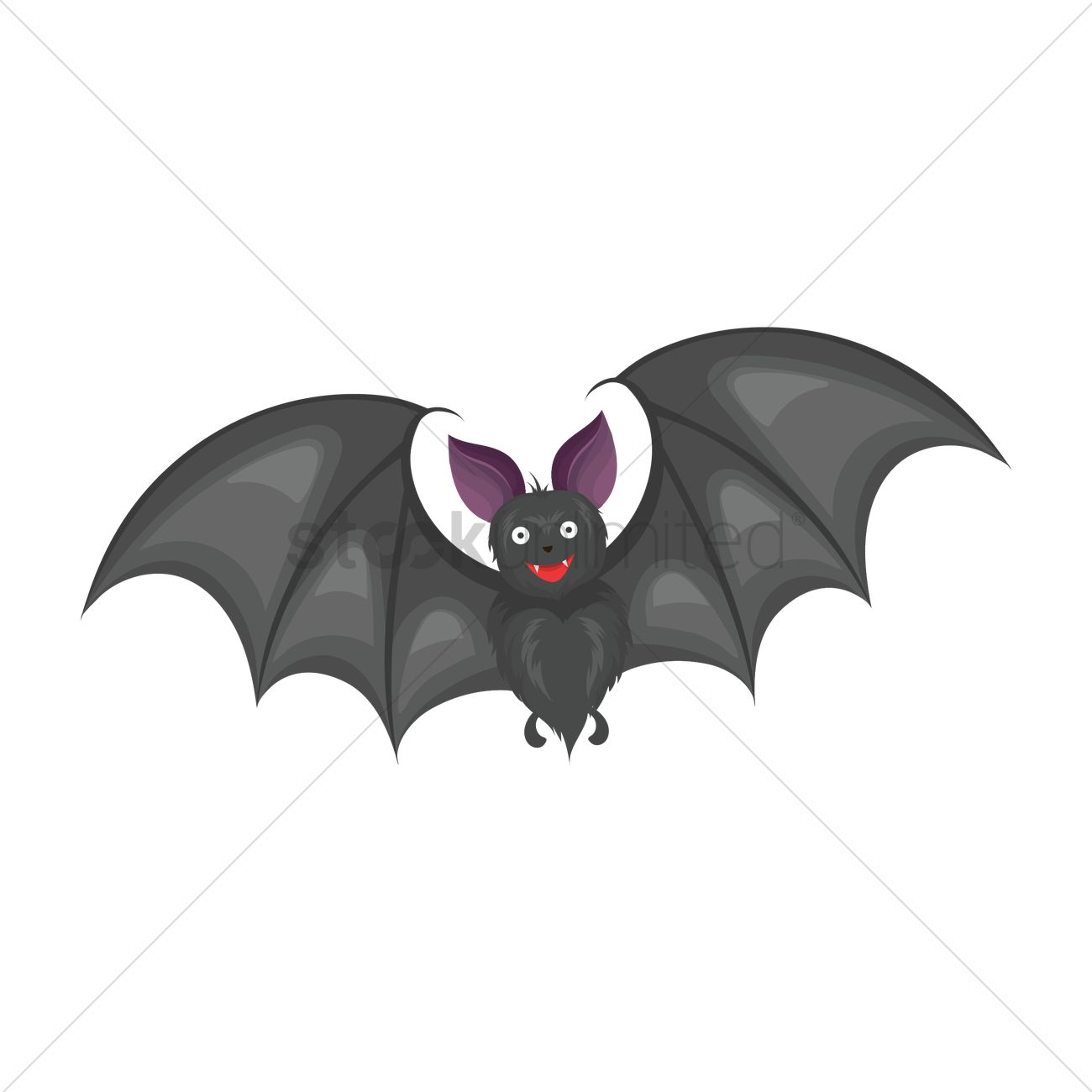 1300x1300 Flying Bat Vector Image