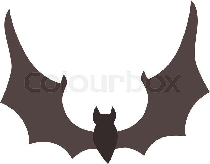 800x625 Illustration Of Cute Cartoon Halloween Bat Vector. Cartoon Bat