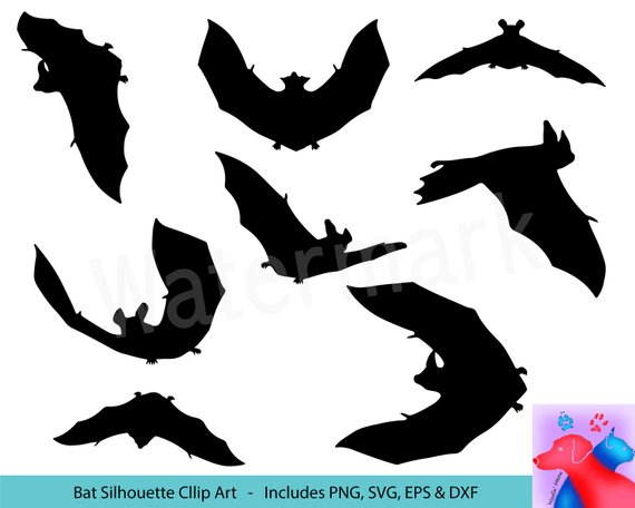 570x456 Bat Svg Clipart Bat Silhouette Bat Vector Bat Decals Bat Etsy