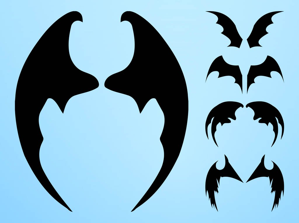 1024x765 Bat Wings Silhouettes Vector Art Amp Graphics
