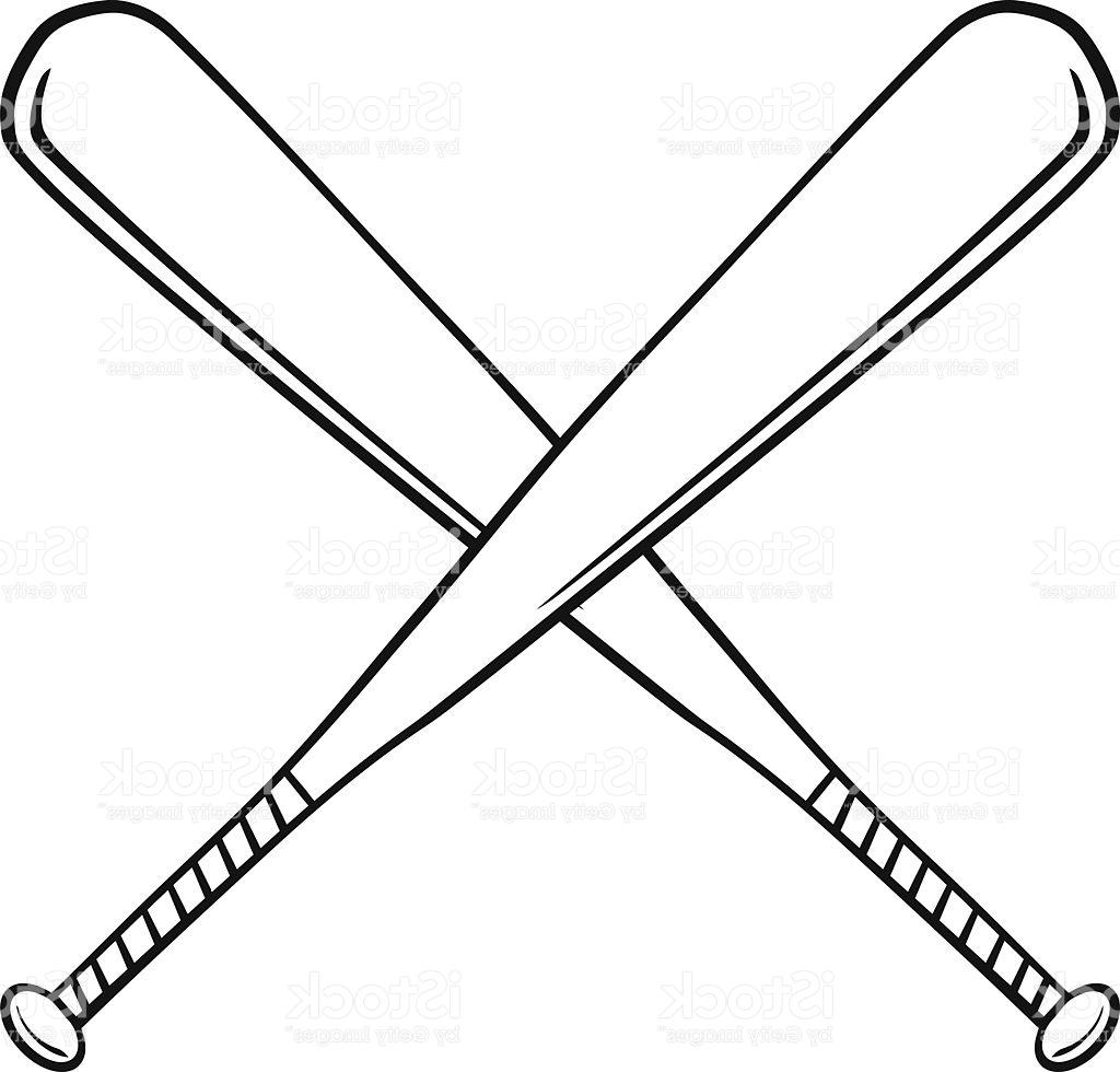 1024x980 Best Hd Black And White Crossed Baseball Bats Vector Library