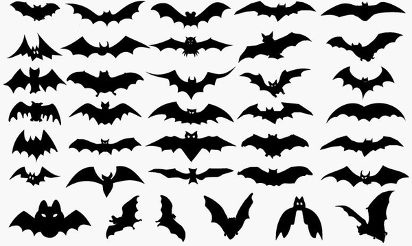 600x359 Vector Set Of Halloween Bat Silhouette Free Vector In Encapsulated