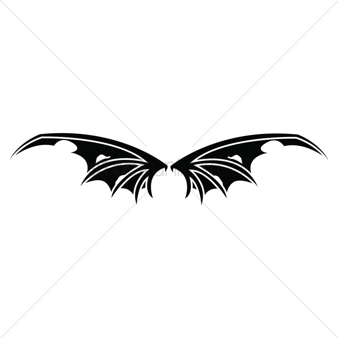1300x1300 Bat Wings Vector Image