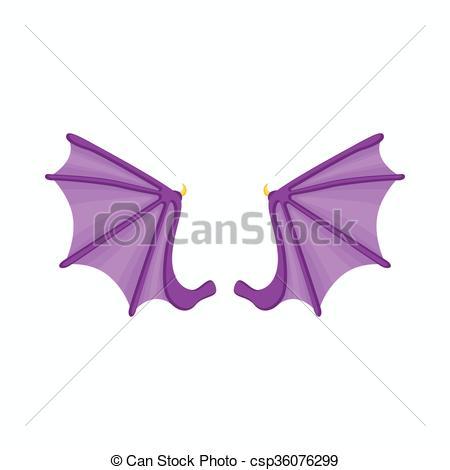 450x470 Bat Wings Icon, Cartoon Style. Bat Wings Icon In Cartoon Style