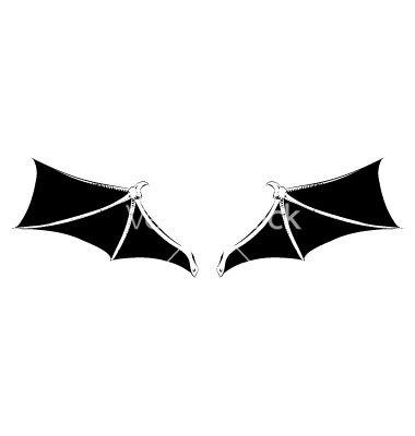 380x400 Bat Wings Vector Clipart Panda