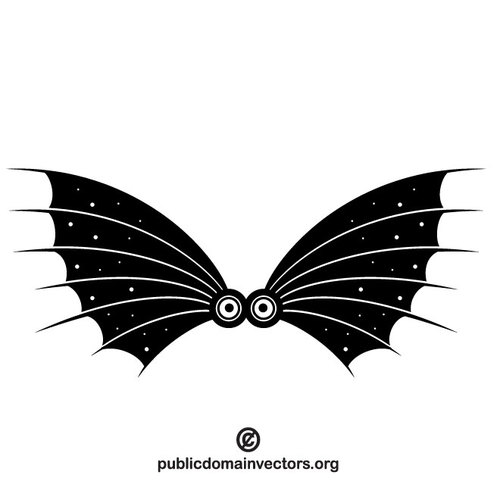 500x500 Bat Wings Vector Clip Art Public Domain Vectors
