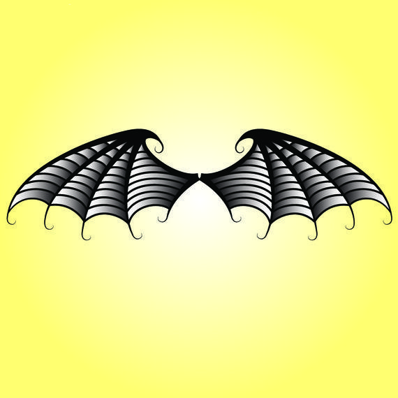 570x570 Black Amp White Bat Wings