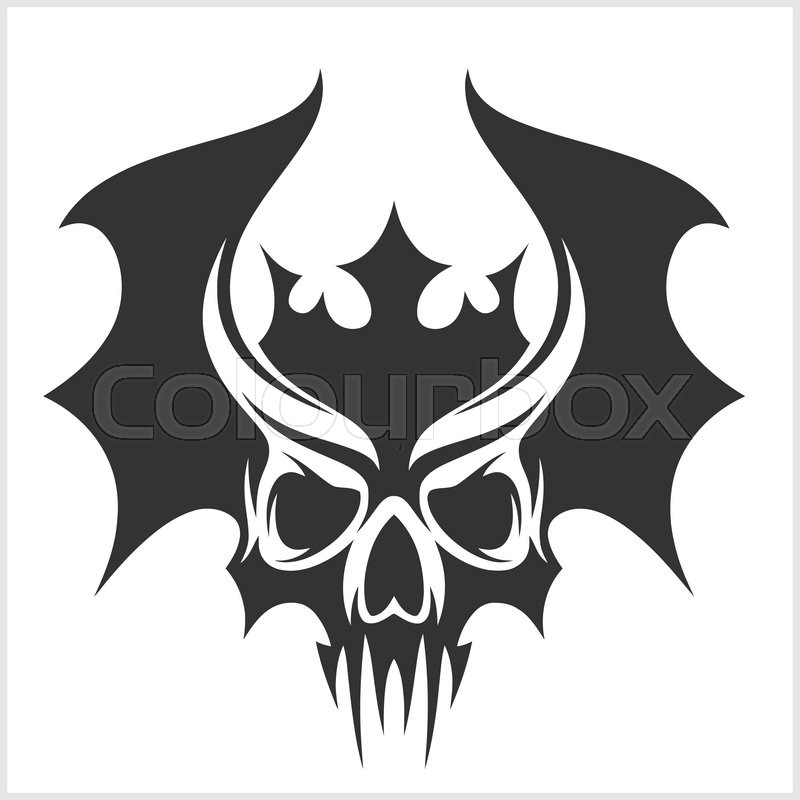 800x800 Skull With Bat Wings And A Crown