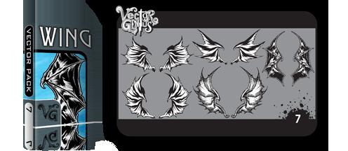 496x216 Tattoo Dragon And Bat Wings Vector Genius